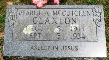 MCCUTCHEN CLAXTON, PEARLIE A - Newton County, Arkansas | PEARLIE A MCCUTCHEN CLAXTON - Arkansas Gravestone Photos