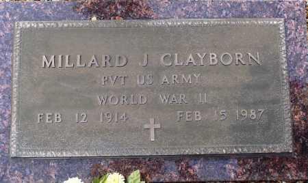 CLAYBORN  (VETERAN WWII), MILLARD J. - Newton County, Arkansas | MILLARD J. CLAYBORN  (VETERAN WWII) - Arkansas Gravestone Photos