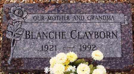 CLAYBORN, BLANCHE - Newton County, Arkansas   BLANCHE CLAYBORN - Arkansas Gravestone Photos