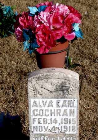 COCHRAN, ALVA EARL - Newton County, Arkansas | ALVA EARL COCHRAN - Arkansas Gravestone Photos