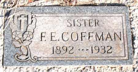 COFFMAN, F. E. - Newton County, Arkansas | F. E. COFFMAN - Arkansas Gravestone Photos