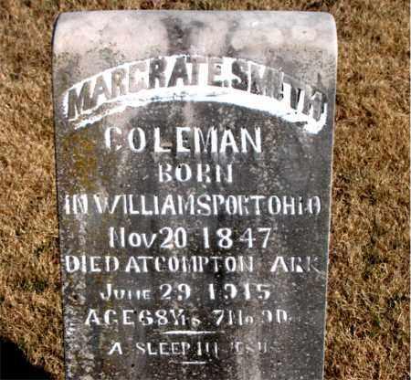 COLEMAN, MARGRAT E. - Newton County, Arkansas   MARGRAT E. COLEMAN - Arkansas Gravestone Photos