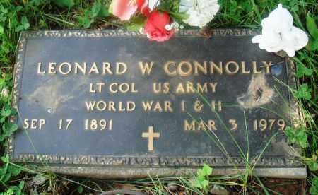 CONNOLLY (VETERAN 2 WARS), LEONARD W - Newton County, Arkansas | LEONARD W CONNOLLY (VETERAN 2 WARS) - Arkansas Gravestone Photos