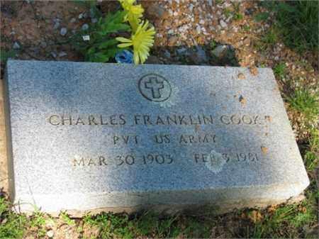 COOK  (VETERAN), CHARLES FRANKLIN - Newton County, Arkansas   CHARLES FRANKLIN COOK  (VETERAN) - Arkansas Gravestone Photos