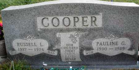 COOPER, RUSSELL L. - Newton County, Arkansas | RUSSELL L. COOPER - Arkansas Gravestone Photos