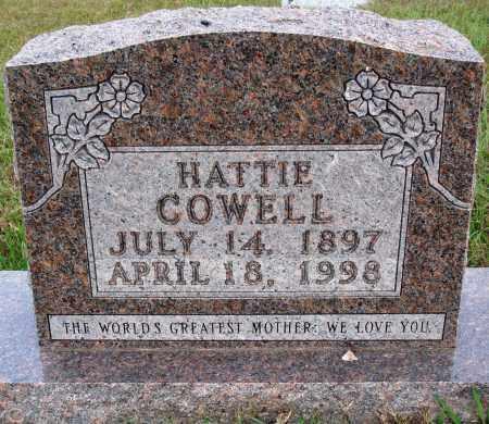 COWELL, HATTIE - Newton County, Arkansas | HATTIE COWELL - Arkansas Gravestone Photos