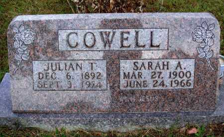 COWELL, JULIAN T. - Newton County, Arkansas | JULIAN T. COWELL - Arkansas Gravestone Photos