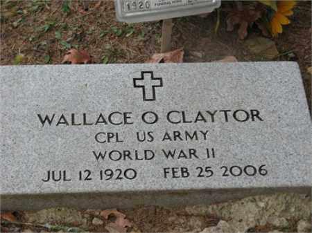 CLAYTOR (VETERAN WWII), WALLACE O - Newton County, Arkansas | WALLACE O CLAYTOR (VETERAN WWII) - Arkansas Gravestone Photos