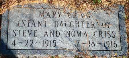 CRISS, MARY - Newton County, Arkansas | MARY CRISS - Arkansas Gravestone Photos