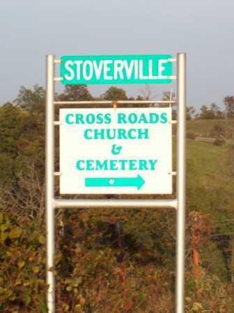 *CROSS ROADS CEMETERY SIGN,  - Newton County, Arkansas    *CROSS ROADS CEMETERY SIGN - Arkansas Gravestone Photos