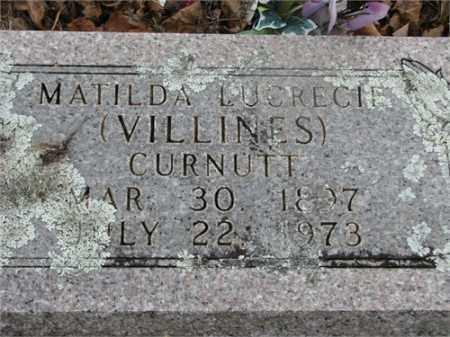 VILLINES CURNUTT, MATILDA LUCRECIE - Newton County, Arkansas | MATILDA LUCRECIE VILLINES CURNUTT - Arkansas Gravestone Photos