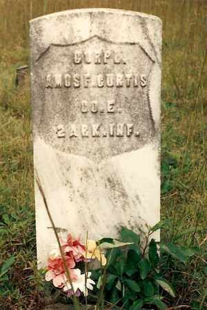 CURTIS  (VETERAN UNION), AMOS - Newton County, Arkansas | AMOS CURTIS  (VETERAN UNION) - Arkansas Gravestone Photos