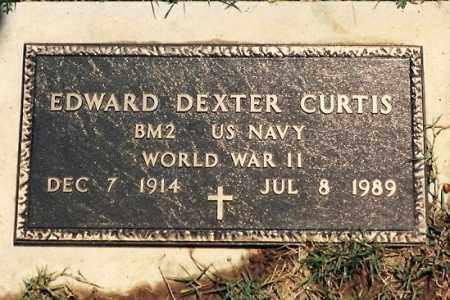 CURTIS  (VETERAN WWII), EDWARD DEXTER - Newton County, Arkansas | EDWARD DEXTER CURTIS  (VETERAN WWII) - Arkansas Gravestone Photos