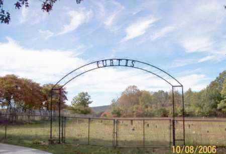 *CURTIS CEMETERY ENTRANCE,  - Newton County, Arkansas    *CURTIS CEMETERY ENTRANCE - Arkansas Gravestone Photos