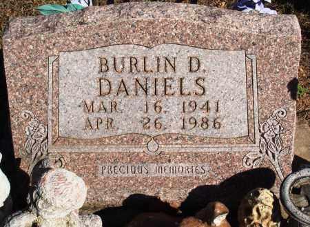 DANIELS, BURLIN D. - Newton County, Arkansas | BURLIN D. DANIELS - Arkansas Gravestone Photos