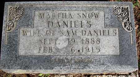 SNOW DANIELS, MARTHA - Newton County, Arkansas | MARTHA SNOW DANIELS - Arkansas Gravestone Photos