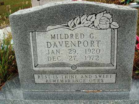 DAVENPORT, MILDRED G. - Newton County, Arkansas | MILDRED G. DAVENPORT - Arkansas Gravestone Photos