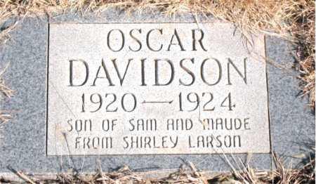 DAVIDSON, OSCAR - Newton County, Arkansas | OSCAR DAVIDSON - Arkansas Gravestone Photos