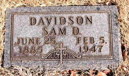 DAVIDSON, SAM D. - Newton County, Arkansas | SAM D. DAVIDSON - Arkansas Gravestone Photos