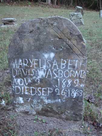 DAVIS, MARY ELISABETH - Newton County, Arkansas | MARY ELISABETH DAVIS - Arkansas Gravestone Photos