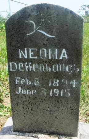 DEFFENBAUGH, NEOMA - Newton County, Arkansas | NEOMA DEFFENBAUGH - Arkansas Gravestone Photos