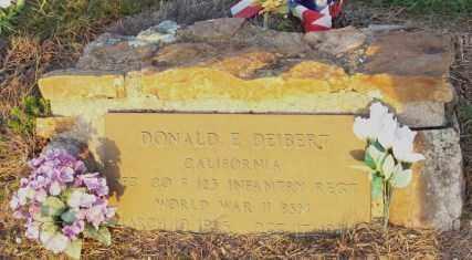 DEIBERT  (VETERAN WWII), DONALD E - Newton County, Arkansas   DONALD E DEIBERT  (VETERAN WWII) - Arkansas Gravestone Photos