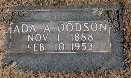 DODSON, ADA  A. - Newton County, Arkansas | ADA  A. DODSON - Arkansas Gravestone Photos
