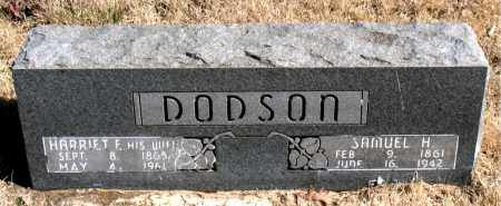 DODSON, HARRIET F. - Newton County, Arkansas | HARRIET F. DODSON - Arkansas Gravestone Photos