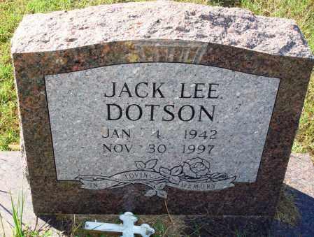 DOTSON, JACK LEE - Newton County, Arkansas | JACK LEE DOTSON - Arkansas Gravestone Photos