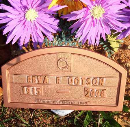 DOTSON, REVA R. - Newton County, Arkansas | REVA R. DOTSON - Arkansas Gravestone Photos
