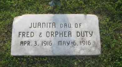 DUTY, JUANITA - Newton County, Arkansas   JUANITA DUTY - Arkansas Gravestone Photos