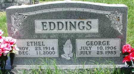 EDDINGS, ETHEL - Newton County, Arkansas | ETHEL EDDINGS - Arkansas Gravestone Photos