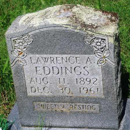 EDDINGS, LAWRENCE A - Newton County, Arkansas | LAWRENCE A EDDINGS - Arkansas Gravestone Photos