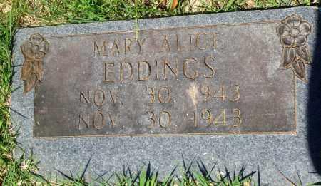 EDDINGS, MARY ALICE - Newton County, Arkansas   MARY ALICE EDDINGS - Arkansas Gravestone Photos