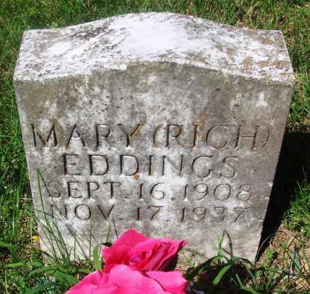EDDINGS, MARY - Newton County, Arkansas | MARY EDDINGS - Arkansas Gravestone Photos