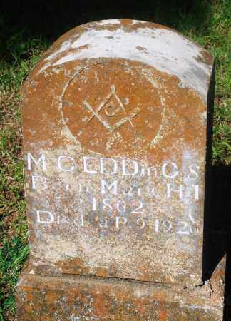 "EDDINGS, M C ""MAY"" - Newton County, Arkansas 
