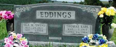 OWENS EDDINGS, OLA M - Newton County, Arkansas | OLA M OWENS EDDINGS - Arkansas Gravestone Photos