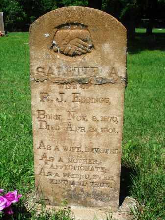 EDDINGS, SALETIE A - Newton County, Arkansas | SALETIE A EDDINGS - Arkansas Gravestone Photos