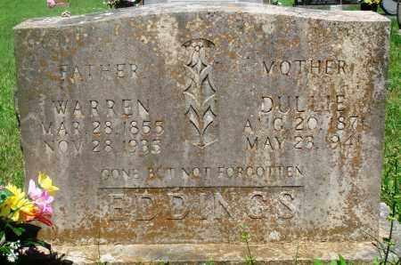 "WYATT EDDINGS, MORGAN TIBITHA DULCINA ""DULLIE"" - Newton County, Arkansas | MORGAN TIBITHA DULCINA ""DULLIE"" WYATT EDDINGS - Arkansas Gravestone Photos"