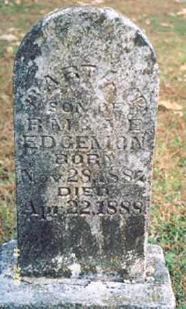 EDGEMON, BART A. - Newton County, Arkansas   BART A. EDGEMON - Arkansas Gravestone Photos