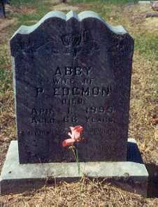 "EDGMON, ABIGAIL ""ABBY"" - Newton County, Arkansas | ABIGAIL ""ABBY"" EDGMON - Arkansas Gravestone Photos"