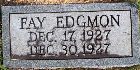 EDGMON, FAY - Newton County, Arkansas   FAY EDGMON - Arkansas Gravestone Photos