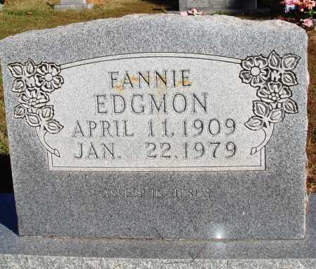 EDGMON, FANNIE - Newton County, Arkansas   FANNIE EDGMON - Arkansas Gravestone Photos