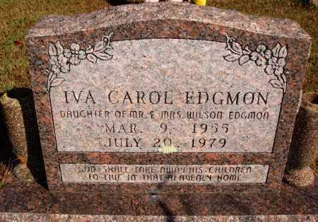 EDGMON, IVA CAROL - Newton County, Arkansas   IVA CAROL EDGMON - Arkansas Gravestone Photos