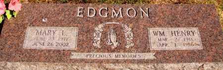EDGMON, WILLIAM HENRY - Newton County, Arkansas | WILLIAM HENRY EDGMON - Arkansas Gravestone Photos