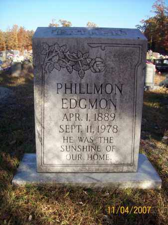 EDGMON, PHILLMON - Newton County, Arkansas | PHILLMON EDGMON - Arkansas Gravestone Photos