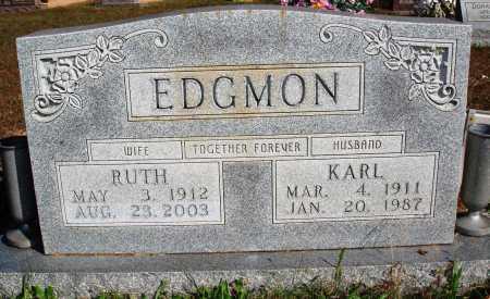 EDGMON, KARL - Newton County, Arkansas | KARL EDGMON - Arkansas Gravestone Photos