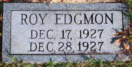 EDGMON, ROY - Newton County, Arkansas | ROY EDGMON - Arkansas Gravestone Photos