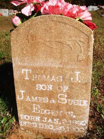 EDGMON, THOMAS J. - Newton County, Arkansas | THOMAS J. EDGMON - Arkansas Gravestone Photos