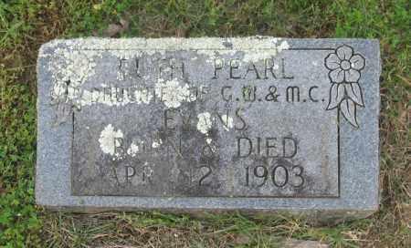 EVANS, RUTH PEARL - Newton County, Arkansas | RUTH PEARL EVANS - Arkansas Gravestone Photos